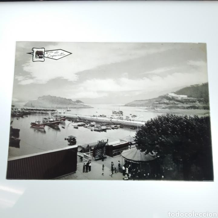 Postales: ¡IRREPETIBLE! Lequeitio, Puerto, Bahía y Kurlutxu EL PERGAMINO Lote clichés imprenta + prueba postal - Foto 4 - 222596622