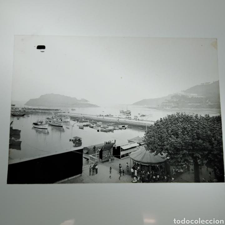 Postales: ¡IRREPETIBLE! Lequeitio, Puerto, Bahía y Kurlutxu EL PERGAMINO Lote clichés imprenta + prueba postal - Foto 7 - 222596622