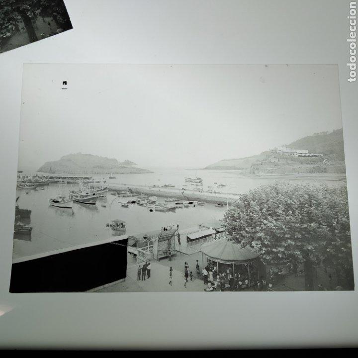 Postales: ¡IRREPETIBLE! Lequeitio, Puerto, Bahía y Kurlutxu EL PERGAMINO Lote clichés imprenta + prueba postal - Foto 8 - 222596622