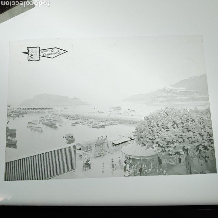 Postales: ¡IRREPETIBLE! Lequeitio, Puerto, Bahía y Kurlutxu EL PERGAMINO Lote clichés imprenta + prueba postal - Foto 5 - 222596622