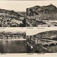 Postales: POSTAL VISTAS DE SAN SEBASTIAN FECHADA 18.9.1956 CIRCULADA SIN SELLO. Lote 222707641