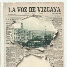 Postales: BILBAO. PORTADA DIARIO -LA VOZ DE VIZCAYA- Nº 1 LANDABURU HERMANOS. POSTALES 0102. Lote 222748156