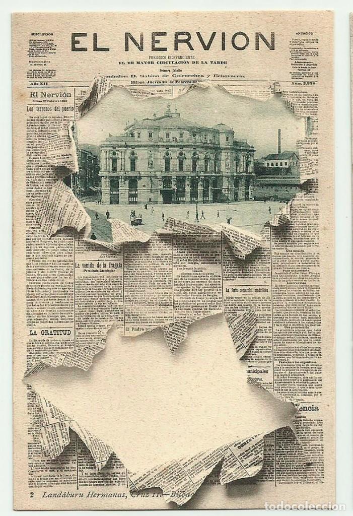BILBAO. PORTADA DIARIO -EL NERVION- Nº 2 LANDABURU HERMANOS. POSTALES 0103 (Postales - España - Pais Vasco Antigua (hasta 1939))