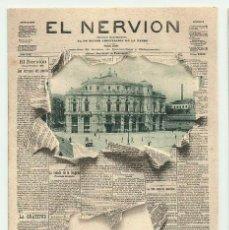 Postales: BILBAO. PORTADA DIARIO -EL NERVION- Nº 2 LANDABURU HERMANOS. POSTALES 0103. Lote 222748518