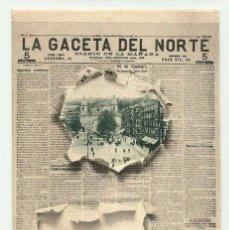 Postales: BILBAO. PORTADA DIARIO -LA GACETA DEL NORTE- Nº 4 LANDABURU HERMANOS. POSTALES 0105. Lote 222749105