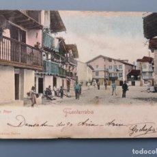 Postales: POSTAL FUENTERRABIA BARRIO DE LA MARINA EDIC A. VILLATTE GUIPUZCOA IRUN PERFECTA ESCRITO EN EUSKERA. Lote 222750328