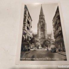 Postales: GUIPÚZCOA - POSTAL SAN SEBASTIÁN - IGLESIA DEL BUEN PASTOR. Lote 222817172