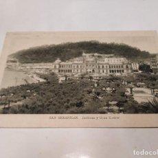 Postales: GUIPÚZCOA - POSTAL SAN SEBASTIÁN - JARDINES Y GRAN CASINO. Lote 222817313