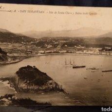 Postales: POSTAL DONOSTIA - SAN SEBASTIÁN FECHADA 6 JUNIO 1911 LA CONCHA IGUELDO. Lote 222945065