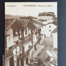 Postais: FUENTERRABIA - HONDARRIBIA - GUIPUZCOA POSTAL ANTIGUA ORIGINAL. Lote 223356958