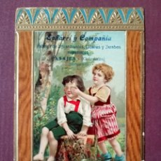 Postales: ANTIGUA POSTAL CON PUBLICIDAD DE ECHARRI Y COMPAÑIA FARICA DE AGUARDIENTES PASAJES - GUIPUZCOA. Lote 224556990