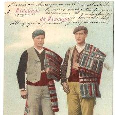 Postales: 1903CA. POSTAL SIN DIVIDIR. ALDEANOS DE VIZCAYA. FOTOGRAFÍA LAURENT (1878 - 1893 CA) LACOSTE, MADRID. Lote 225695100