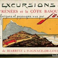 Postales: LOTE 15 POSTALES - LES BELLE EXCURSIONS. PIRINEOS, DE LOURDES A BIARRITZ.. Lote 225744615