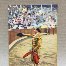 Postales: POSTAL FOT GALARZA COLOREADA PUBLICIDAD CASA PEDRO MARI MATADOR BRINDANDO. Lote 226087950