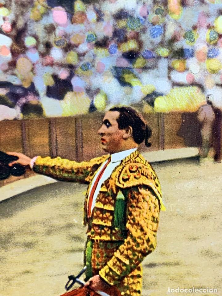 Postales: POSTAL FOT GALARZA COLOREADA PUBLICIDAD CASA PEDRO MARI MATADOR BRINDANDO - Foto 2 - 226087950