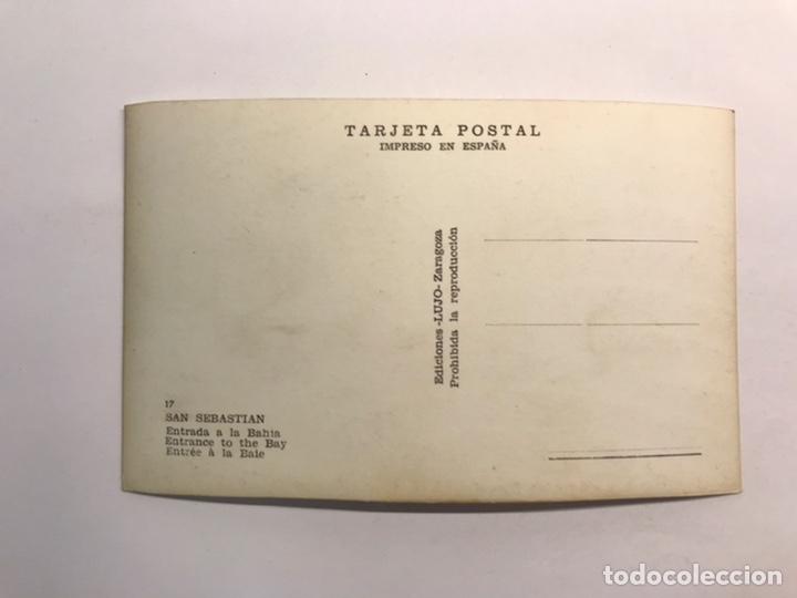 Postales: SAN SEBASTIÁN. Postal No.17, Entrada a la Bahía., Ediciones LUJO, Zaragoza (h.1950?) S/C - Foto 2 - 226138068