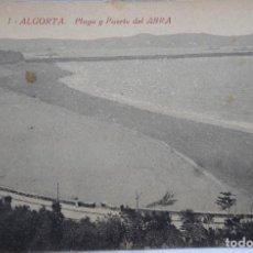 Postales: P-11946. ALGORTA (GETXO). PLAYA Y PUERTO DEL ABRA. EDIT. CRISANTA. NO CIRCULADA.. Lote 227601775