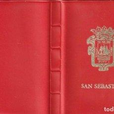 Postales: ALBUM 20 DIFERENTES PEQUEÑAS FOTO POSTALES ESCENAS Y VISTAS SAN SEBASTIAN. Lote 228160055