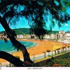 Postales: SAN SEBASTIÁN, PASEO Y PLAYA DE LA CONCHA, EDITADA EN 1967. Lote 228303627