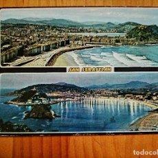 Postales: POSTAL - SAN SEBASTIÁN - DOS VISTAS GENERALES... Lote 228395325