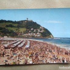 Postales: POSTAL SAN SEBASTIAN PLAYA DE ONDARRETA Y MONTE IGUELDO. Lote 228419655