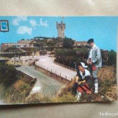 Postales: POSTAL SAN SEBASTIAN MONTE IGUELDO Y PAREJA TIPICA. Lote 228423295