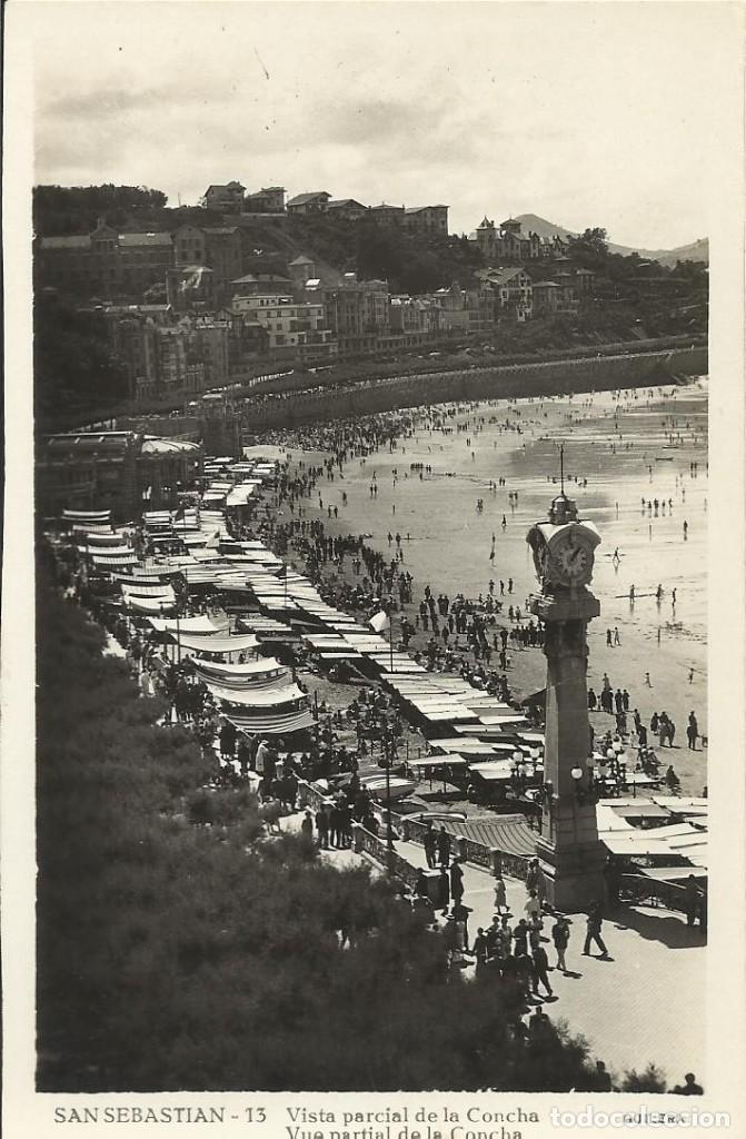 SAN SEBASTIÁN. 13. VISTA PARCIAL DE LA CONCHA. GUILERA. 9X14 CM. BUEN ESTADO. (Postales - España - País Vasco Moderna (desde 1940))