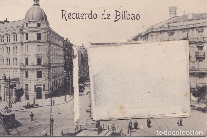 BILBAO (VIZCAYA) - RECUERDO CON DESPLEGABLE DE 12 VISTAS EN MINIATURA (Postales - España - Pais Vasco Antigua (hasta 1939))