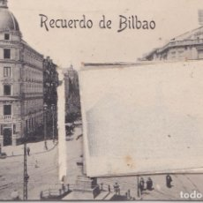 Postales: BILBAO (VIZCAYA) - RECUERDO CON DESPLEGABLE DE 12 VISTAS EN MINIATURA. Lote 229133845
