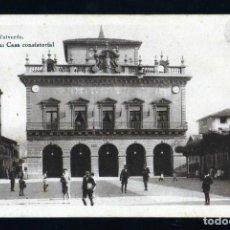 Postales: POSTAL DE IRUN CASA CONSISTORIAL EDITOR HAUSER Y MENET AÑOS 1920/30. Lote 229880970
