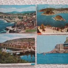 Postales: POSTALES SAN SEBASTIÁN. AÑOS 60 - 70. FRANQUEADAS. Lote 230772170