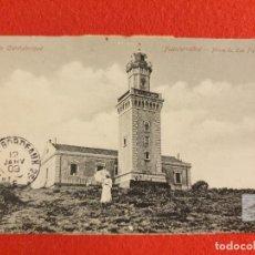 Postales: FUENTERRABIA FARO HIGUER - POSTAL ANTIGUA ORIGINAL -. Lote 231100880