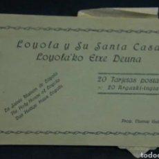 Postales: ~ 20 TARJETAS POSTALES LOYOLA Y SU SANTA CASA ED. VICENTE GUIBERT EN SEPIA ~. Lote 231905825