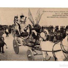 Postales: SAN SEBASTIÁN.(GUIPÚZCOA).- CARNAVAL DE 1908.- LA PROPIEDAD Y ATRIBUTOS.. Lote 232049310