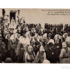 Postales: SAN SEBASTIÁN.(GUIPÚZCOA).- CARNAVAL DE 1908.- CLEOPATRA EN EL NILO.. Lote 232050290