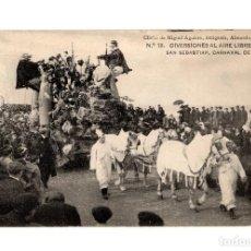 Postales: SAN SEBASTIÁN.(GUIPÚZCOA).- CARNAVAL DE 1908.- DIVERSIONES AL AIRE LIBRE.. Lote 232050465