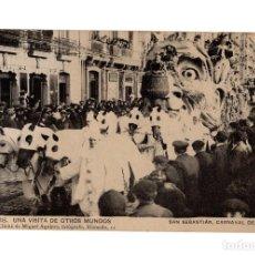 Postales: SAN SEBASTIÁN.(GUIPÚZCOA).- CARNAVAL DE 1908.- UNA VISITA OTROS MUNDOS.. Lote 232054040