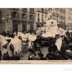 Postales: SAN SEBASTIÁN.(GUIPÚZCOA).- CARNAVAL DE 1908.- LA BELLA EASO.. Lote 232054305