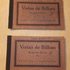 Postales: 2 BLOCS DE 14 POSTALES DE VISTAS DE BILBAO DE FHER. Lote 233369090