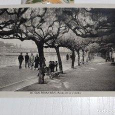 Postales: SAN SEBASTIÁN PASEO DE LA CONCHA. Lote 234768820