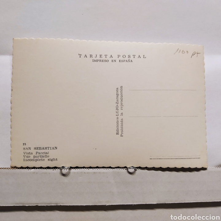 Postales: 33 SAN SEBASTIAN, Vist aParcial, Edición LUJO Zaragoza - Foto 2 - 235374730
