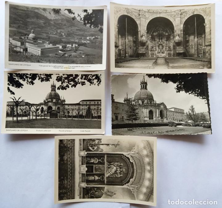 AZPEITIA SANTUARIO DE LOYOLA LOTE 5 POSTALES (Postales - España - Pais Vasco Antigua (hasta 1939))