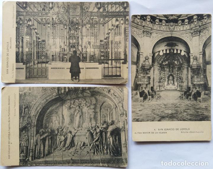 AZPEITIA SANTUARIO DE LOYOLA LOTE 3 POSTALES (Postales - España - Pais Vasco Antigua (hasta 1939))