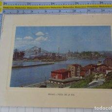 Cartoline: POSTAL DE VIZCAYA. AÑOS 50. BILBAO VISTA DE LA RIA. 502. Lote 236803025