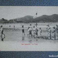 Postales: SAN SEBASTIÁN LA PLAYA POSTAL ANTERIOR A 1905 EDICIONES P. Z.. Lote 237018365
