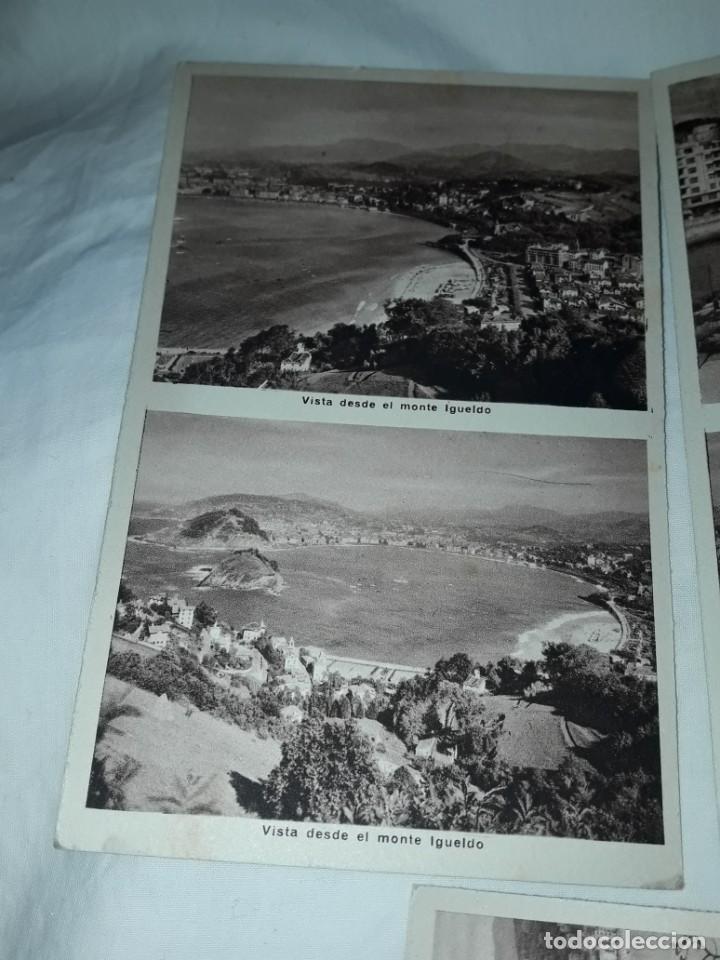 Postales: Lote 6 postales antiguas San Sebastián - Foto 7 - 238675545