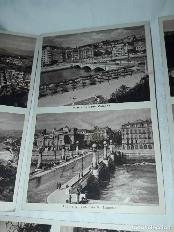 Postales: Lote 6 postales antiguas San Sebastián - Foto 8 - 238675545