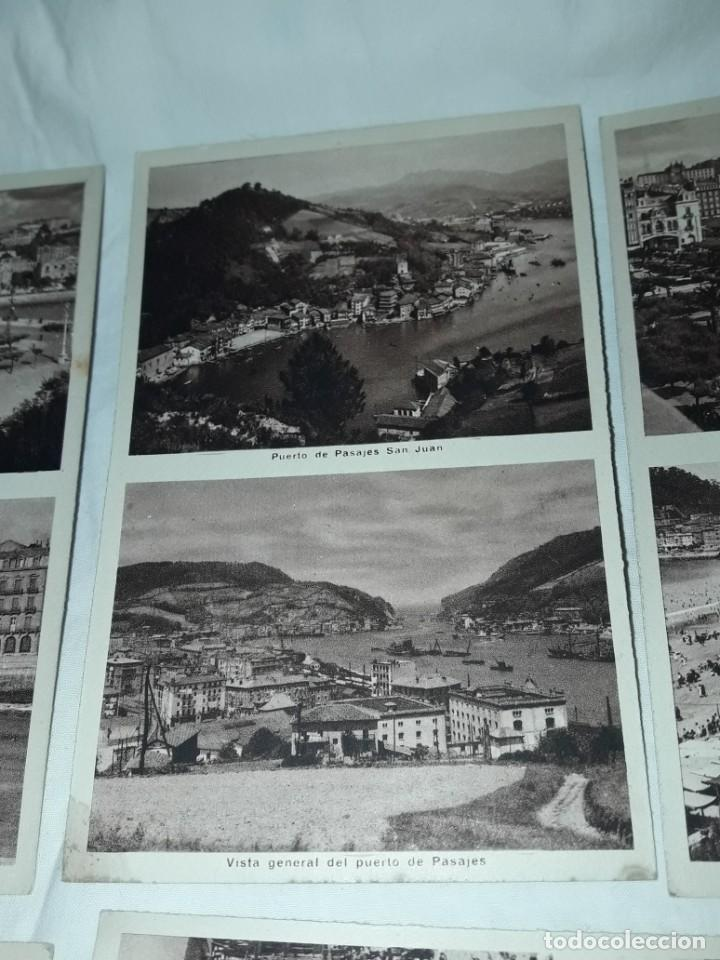 Postales: Lote 6 postales antiguas San Sebastián - Foto 9 - 238675545