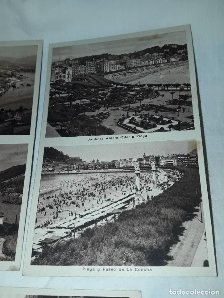 Postales: Lote 6 postales antiguas San Sebastián - Foto 10 - 238675545