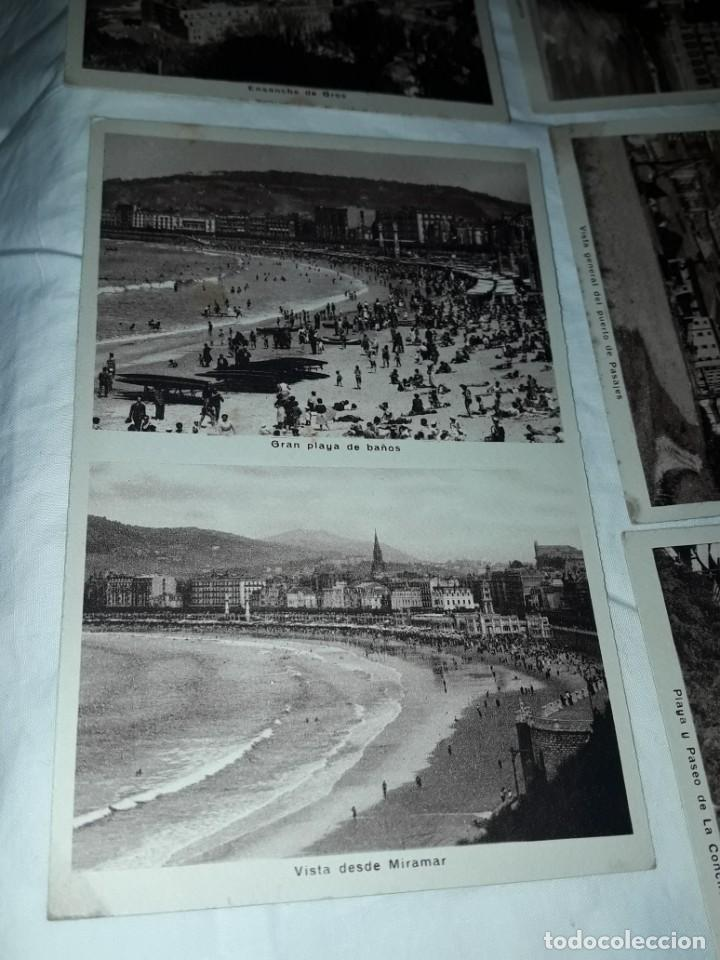 Postales: Lote 6 postales antiguas San Sebastián - Foto 11 - 238675545